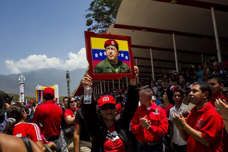 Commemoration of anniversary of Pres. Hugo Chavez' death March 5. Tens of thousands marched to support Chavez and his successor Maduro across the country.