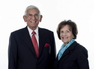 Eli and Edythe Broad of the anti-public schools Broad Foundation.