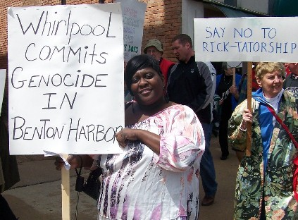 Rally in Benton Harbor.