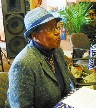 Cecily McClellan at N'namdi meeting.