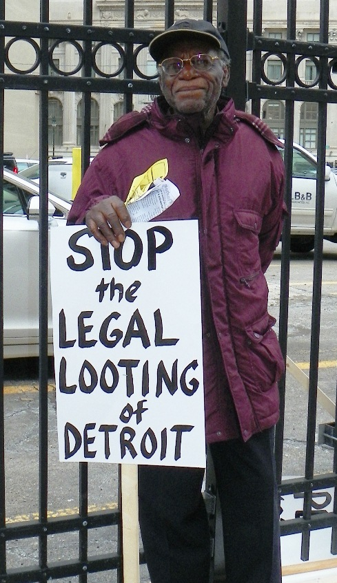 Protester April 1, 2014.