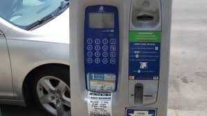 Detroit parking meter, many of which are inoperable.