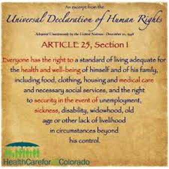 Part of the UN Declaration of Human Rights, which global corporations and banks are continually violated. The U.S. did not sign on to this agreement, or the UN Declaration on the Rights of the Child.