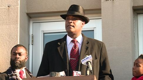 Marcus Muhammad announces candidacy for Mayor. Photo Melanie Yuill Fox 28