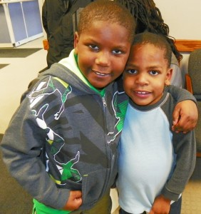 Two of Tamikia and Arthur's other sons during visit at DHS offices.