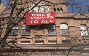 Students demand free education. Other countries have it--why not the U.S.?