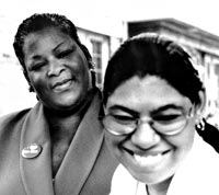 Lennette and Mailauni Williams in 2002; photo Metro Times.