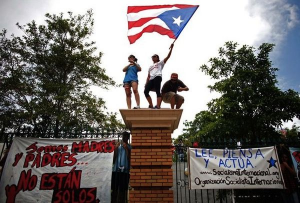Earlier strike by Puerto Rican students.
