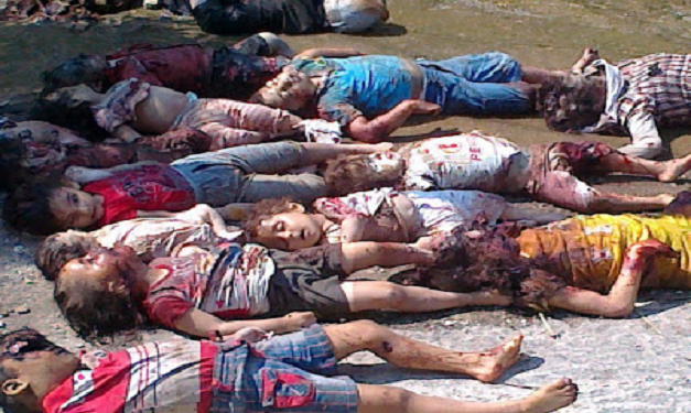 U.S. backed rebels in Syria massacred these children.