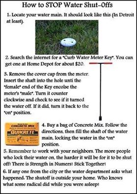 How to stop water shut offs