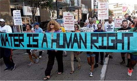 Water is a human right rally