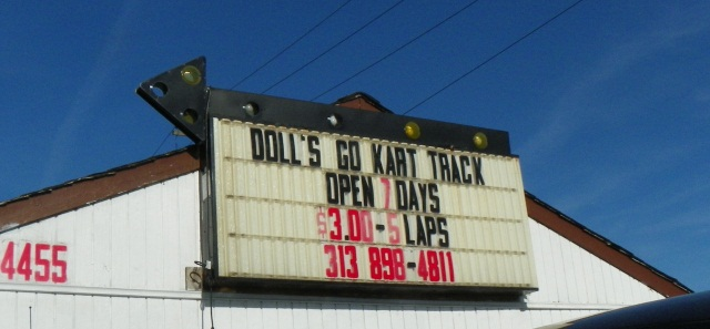 gokart sign