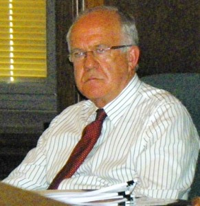 EMA exec. Brian Hurding at Board of Water Commissioners meeting Sept. 7, 2012.