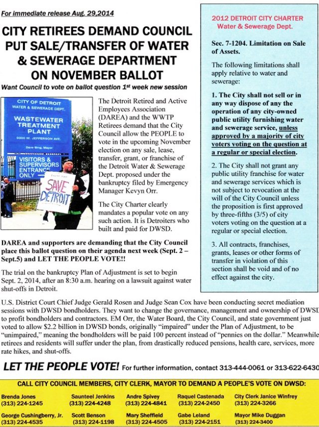 DWSD on ballot