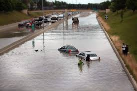 Detroit freeway flooded Aug. 11, 2014.