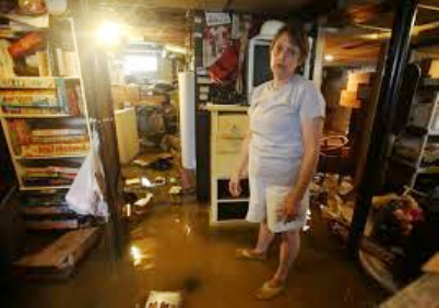 Flooded basement in Detroit.