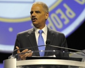 U.S. AG Eric Holder at NAACP national conference.