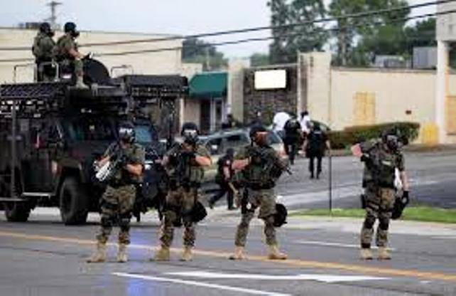 Police paramilitary occupation of Ferguson, MO continues.