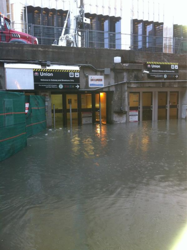 flooding of union station in toronto subway system in 2011 raw sewage