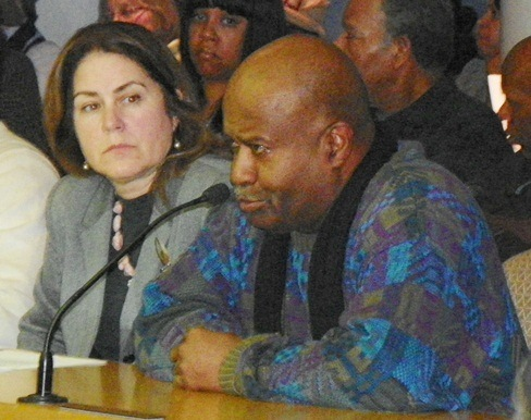Tim Moore speaking at City Council meeting in 2013.