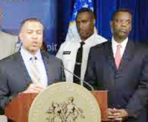 Detroit police chief James Craig (l) was appointed by Detroit EM Kevyn Orr (r).