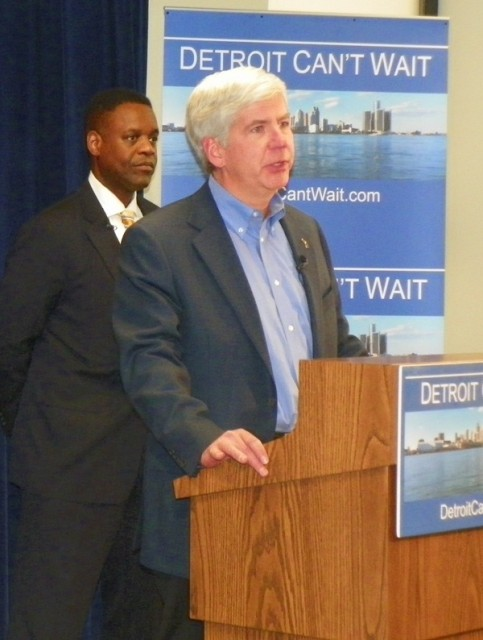 Gov. Rick Snyder announces appointment of Kevyn Orr as EM March 14, 2013.