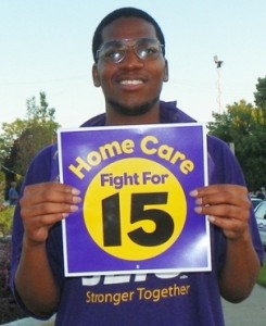Home care worker Terance Carter.