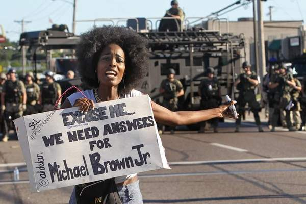 Aftermath of Michael Brown's killing by Ferguson police.