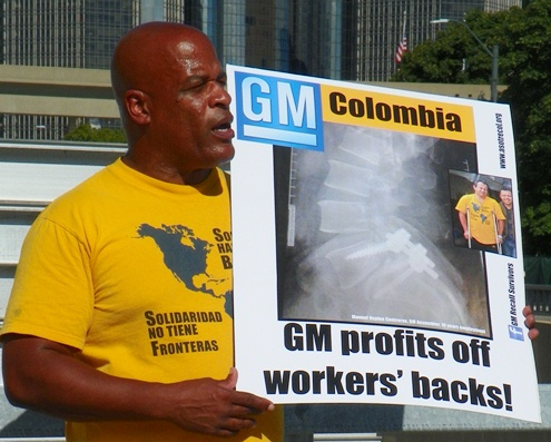 UAW member Melvin Thompson speaks about conditions in GM plants here and abroad.