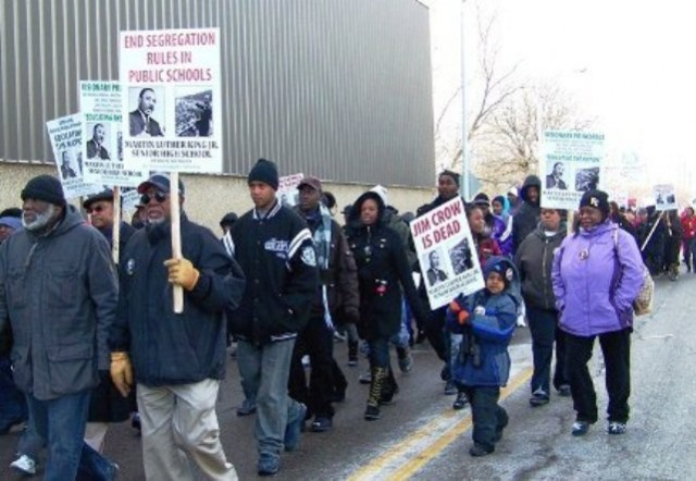 Dr. Martin Luther King, Jr. Day march in Detroit, 2011.