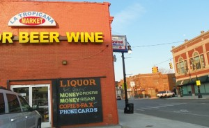 Anthony Clark Reed was pulled over on Vernor near Lawndale in the street outside this liquor store.