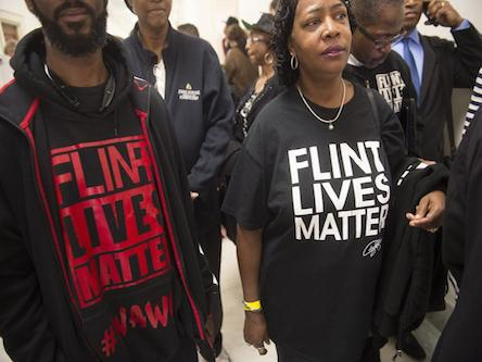 Protest against poisoning of Flint residents