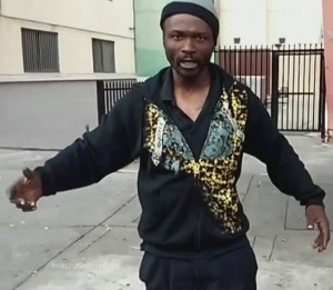 """""""Africa,"""" shot to death by five LAPD cops March 1, 2015 outside his tent near homeless shelter"""