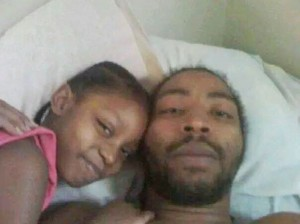 Aiyana with father Charles Jones before her murder.