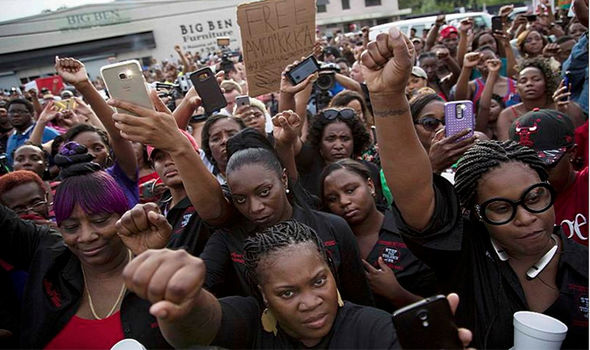 RISE UP STOP POLICE MURDERS OF BLACK MEN