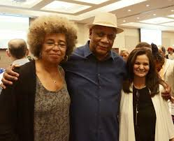 Prof. Angela Davis, Frank Chapman of Chicago Alliance and Rasmea Odeh at 2015 rally.