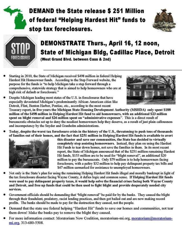 April 16 demo foreclosures