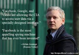 Assange on Facebook Google