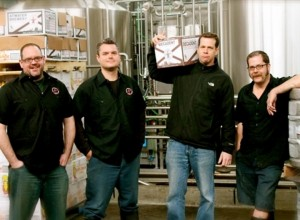 Atwater Brewer owner Mark Reith, second from right, with his leadership team.