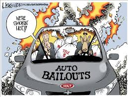 Cartoon refers to numerous deaths caused by faulty switches in GM vehicle rear-end crashes.