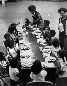 Black Panther Party breakfast program, which became model for free meals in schools.