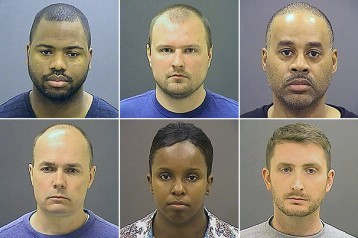 Officers charged in Freddie Gray's death: Clockwise from top left, Baltimore police officers William G. Porter, Garrett E. Miller, Caesar R. Goodson Jr., Edward M. Nero, Alicia D. White and Brian W. Rice. (Baltimore Police Department)