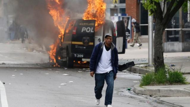 Baltimore uprising 2015: Photo: CNN