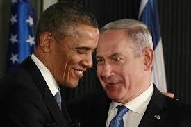 U.S. Pres. Barack Obama with Israeli PM Benjamin Netanyahu.