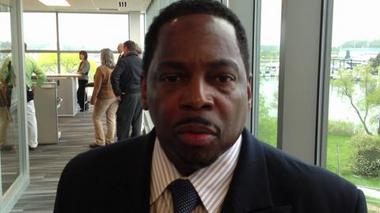 Benton Harbor Mayor James Hightower at Whirlpool HQ event.