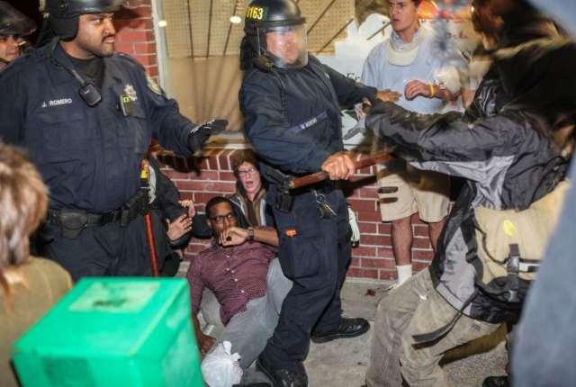 Police attack protesters in Berkeley, CA Dec. 6.