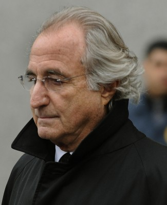Bernard L. Madoff leaves US Federal Court January 14, 2009 after a hearing pending trial. AFP PHOTO / TIMOTHY A. CLARY/AFP/Getty Images)