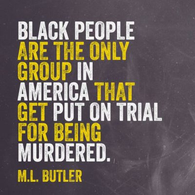 Black people the only people in US put on trial for being murdered