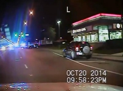 Burger King is seen at beginning of police dashcam video.