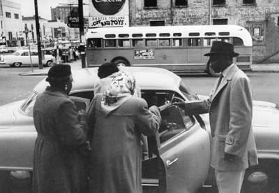 Carpool during historic Montgomery Bus Boycott.